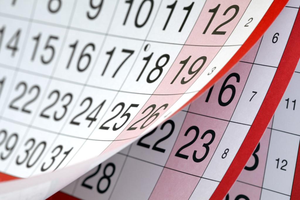 Как можно рассчитать следующие месячные с помощью календаря